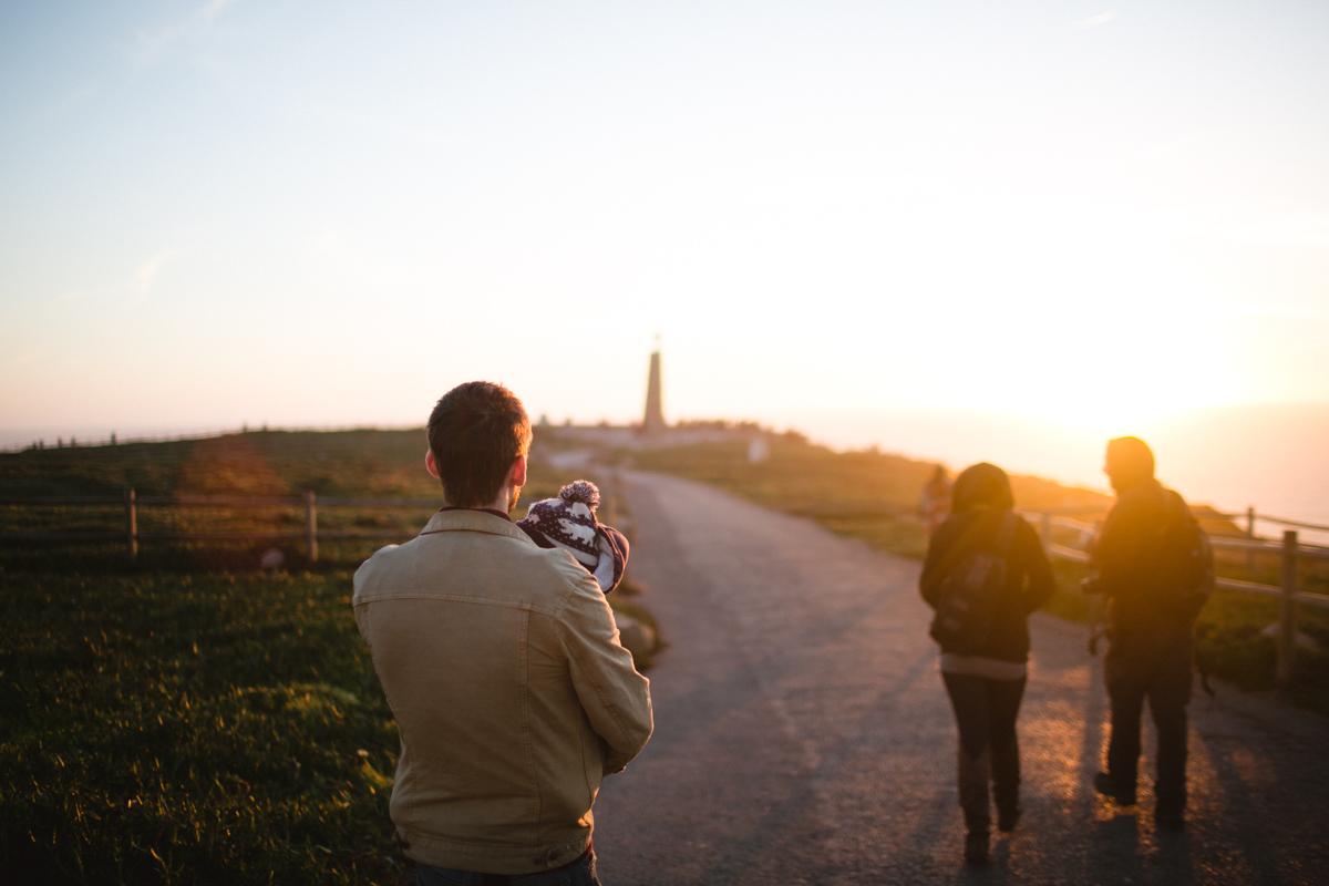 cabo da roco, portugal, western coast, travellling family