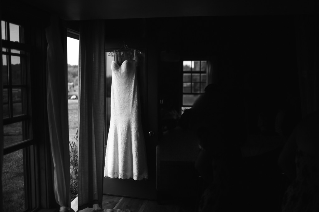 dress detail shot farm wedding