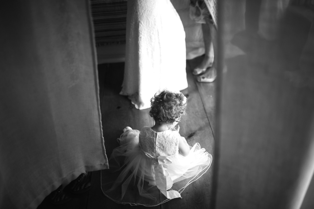 flower girl bride daughter