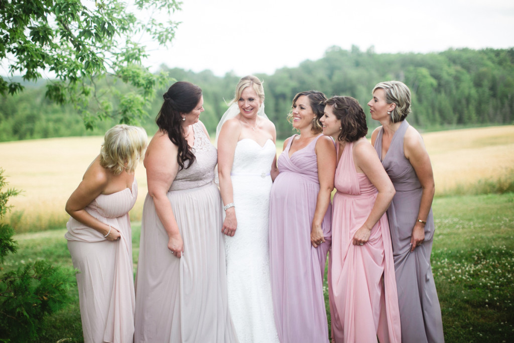 bridesmaids soft purple