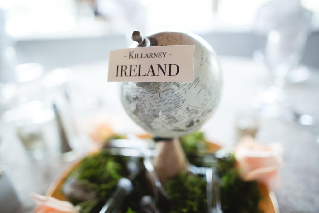 irish travel themed wedding