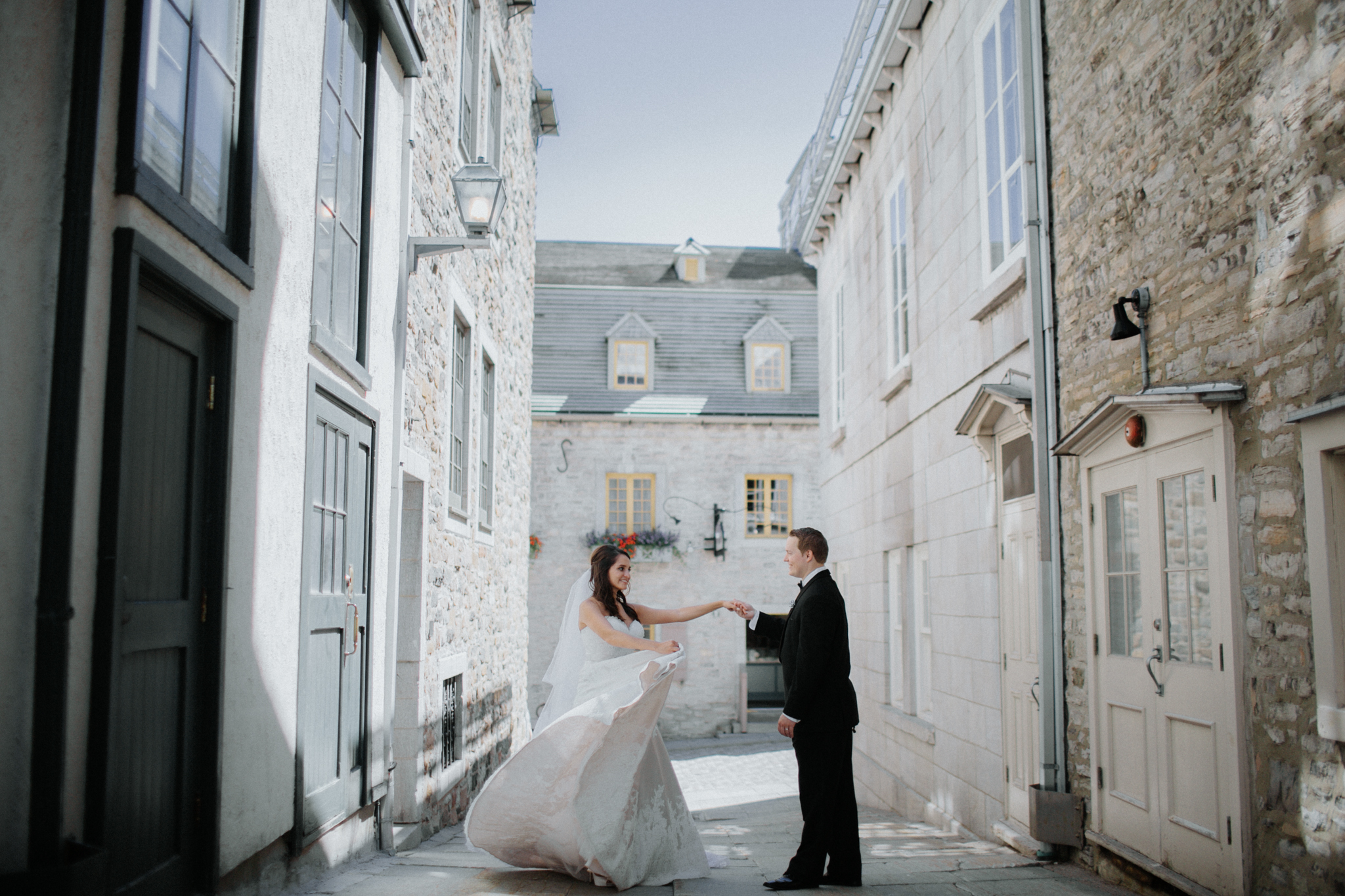 Chateau Frontenac Quebec City Wedding Photographer