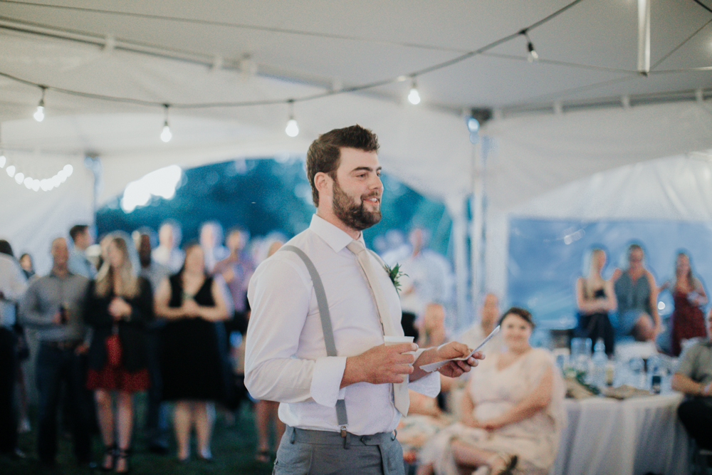 Kingston wedding reception tent