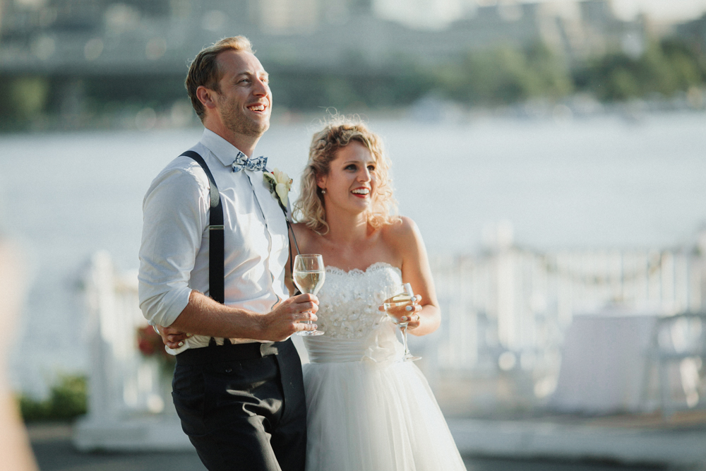 outdoor Ottawa Rowing Club Wedding