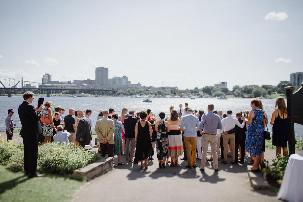 Ottawa Rowing Club Wedding ceremony