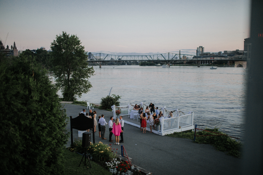 evening wedding at the Ottawa Rowing Club