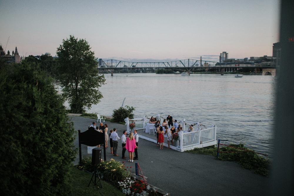 evening wedding at the Ottawa Rowing Club