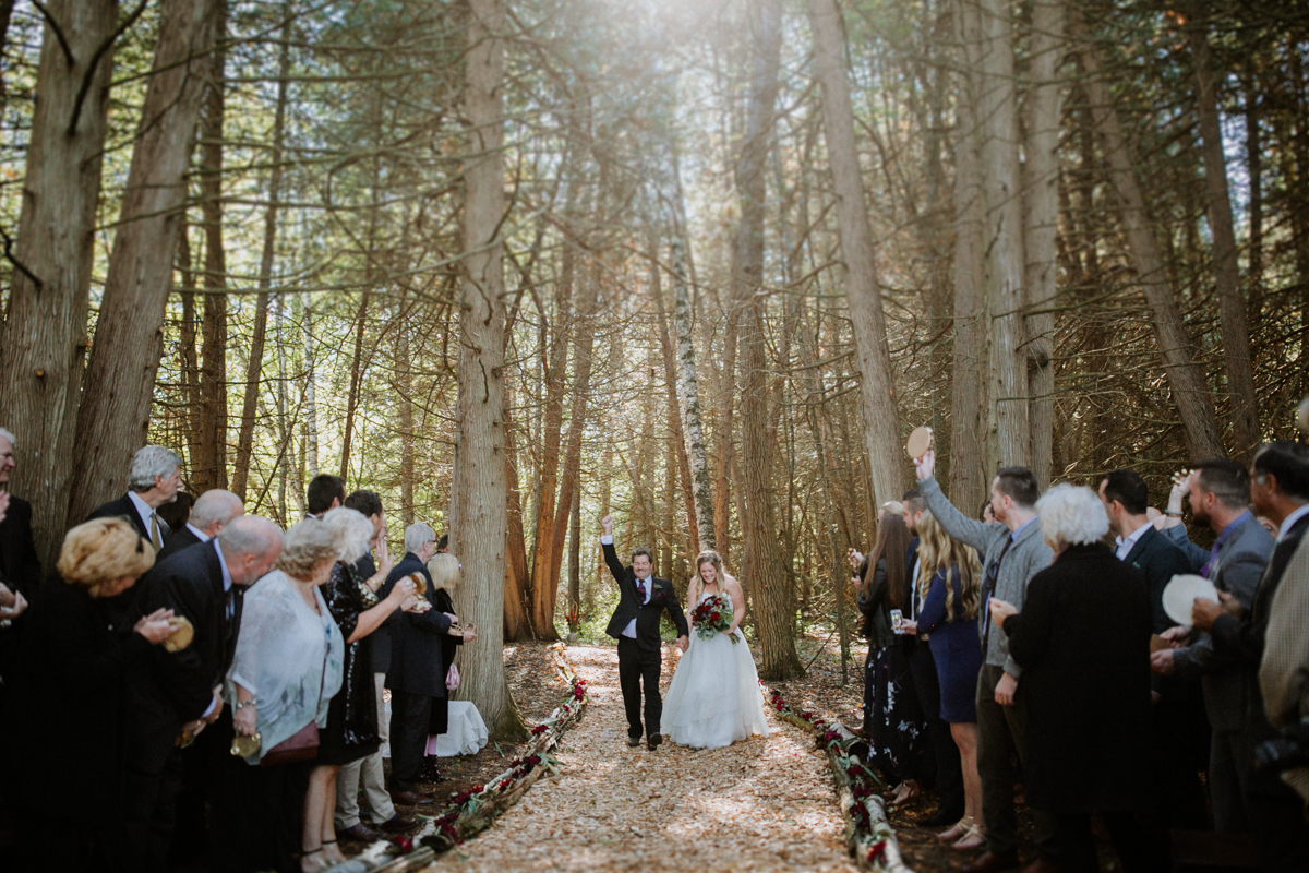 Ottawa forest wedding