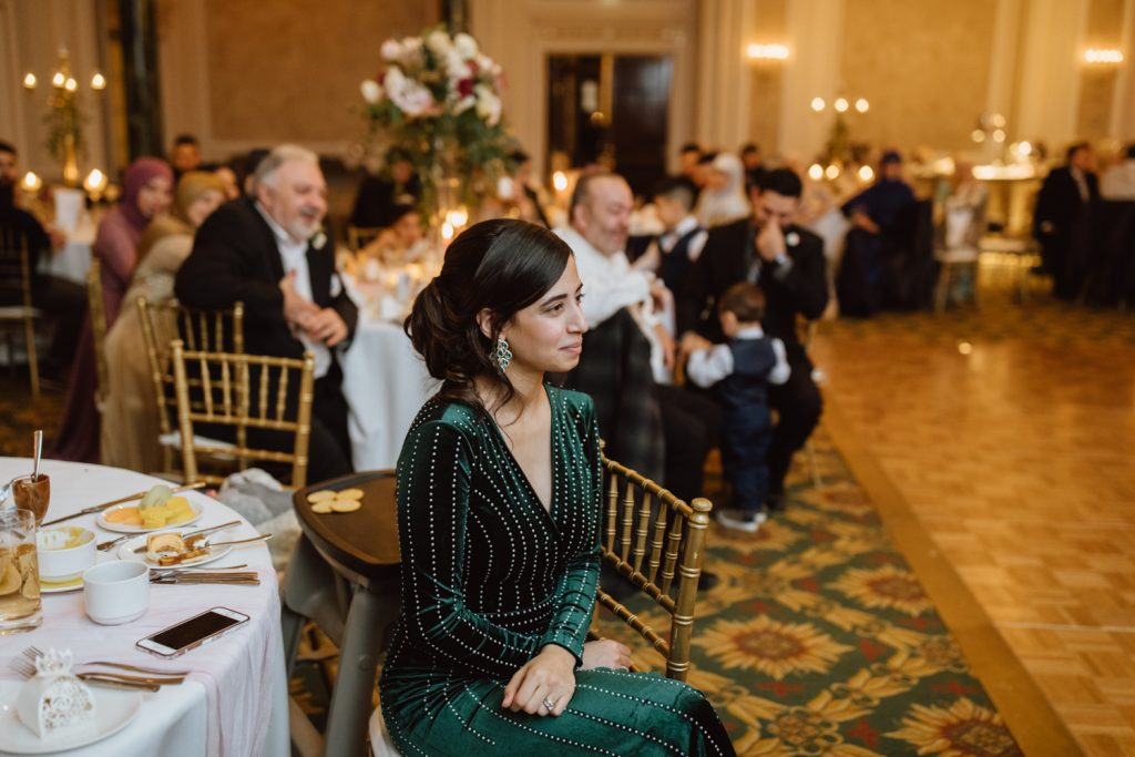Chateau Laurier Winter Wedding reception