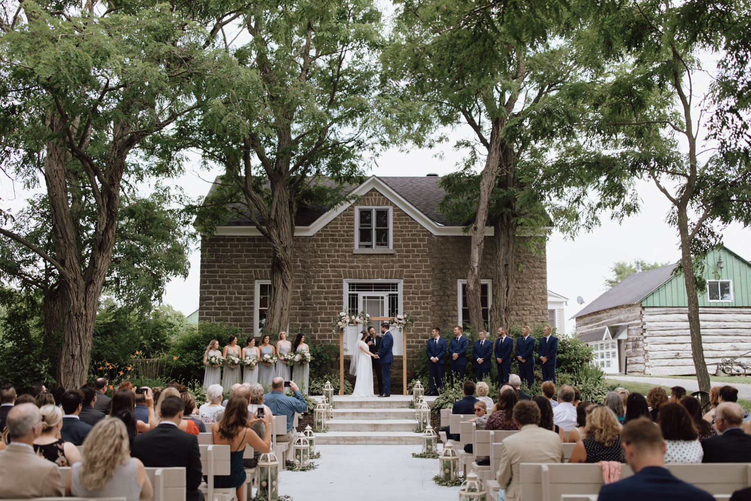 stonefields estate wedding ceremony