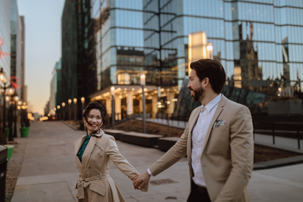 downtown Ottawa engagement photos