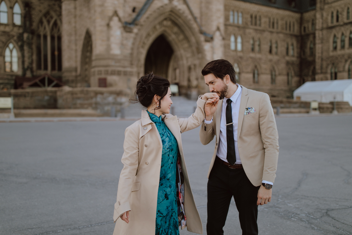 Parliament Hill engagement shoot