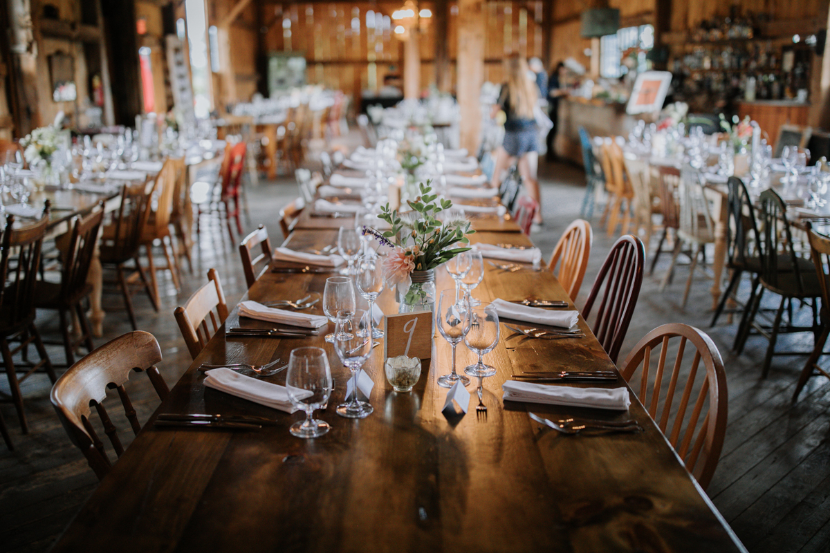 South Pond Farms Wedding reception