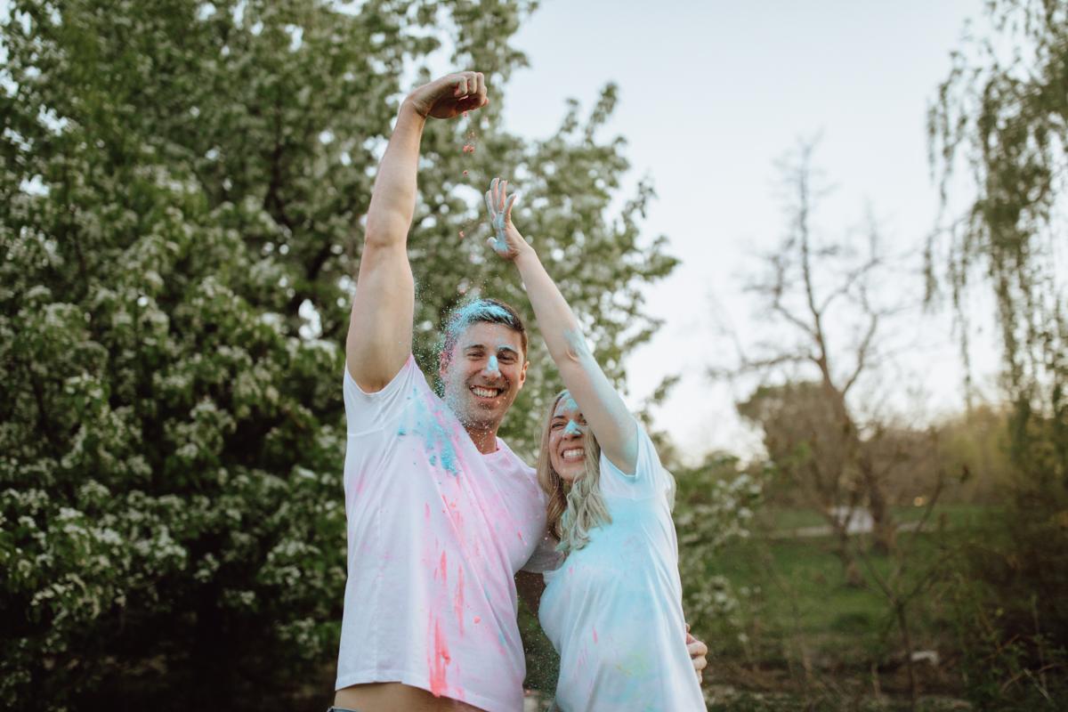 colourful engagement photos ottawa