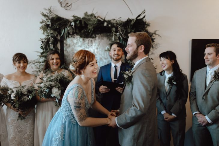 Orange Art Gallery Wedding-1