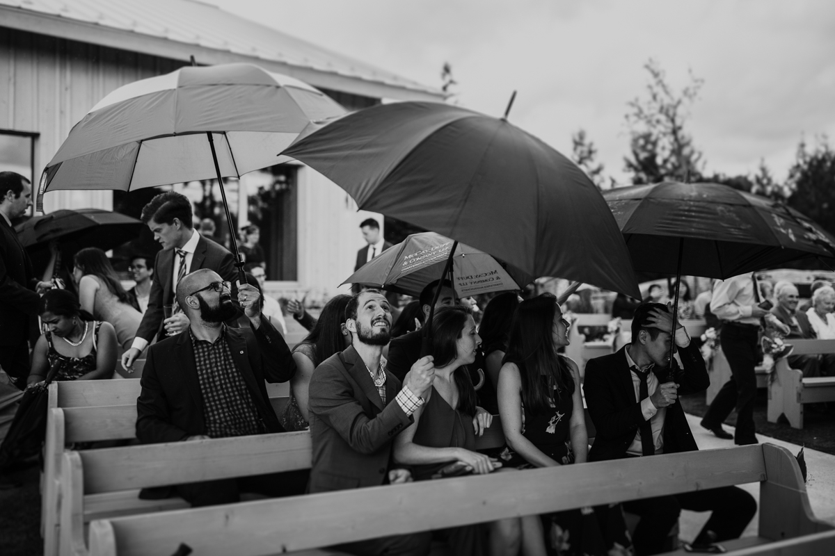 rainy Le Belvedere wedding