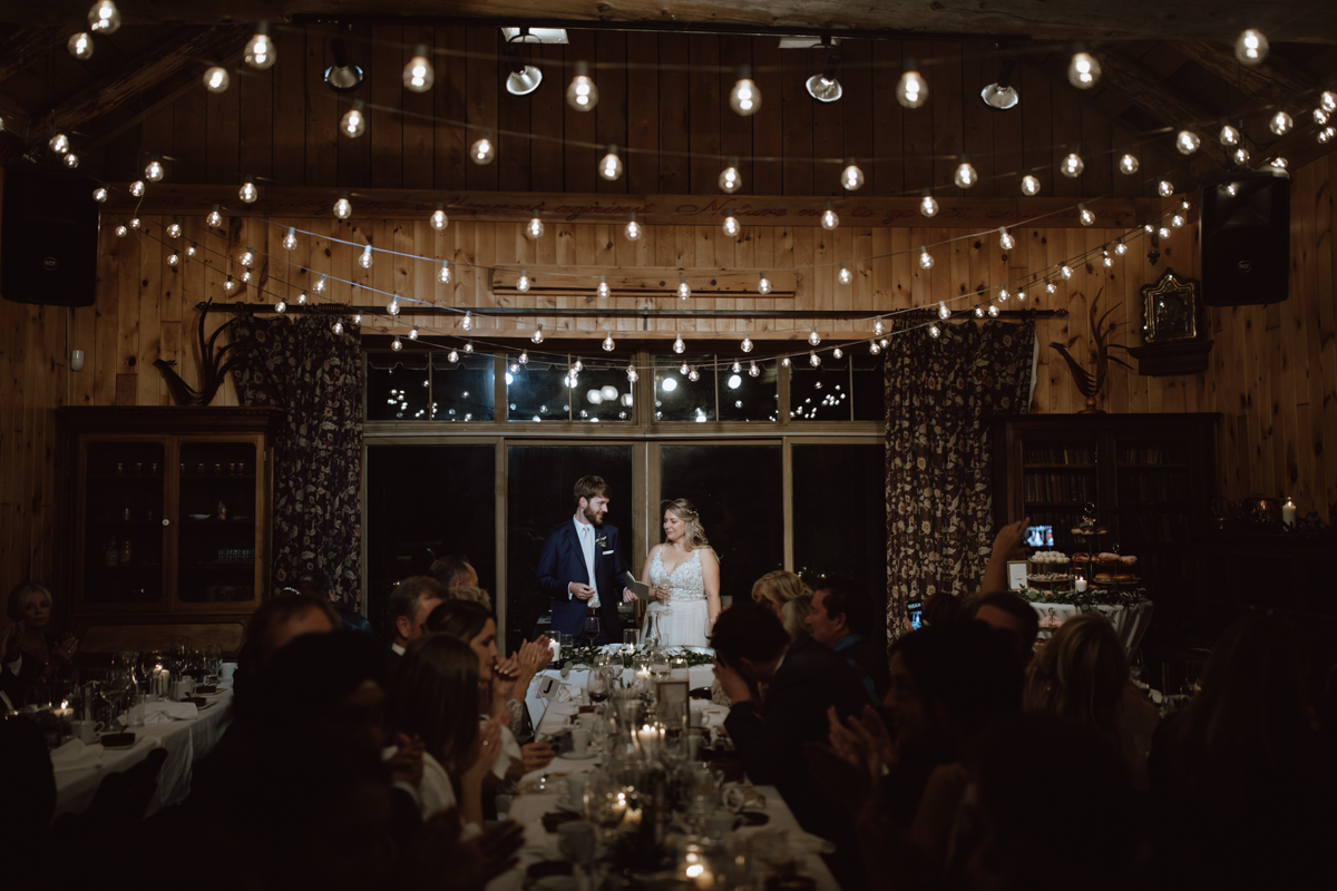 Grange de la gatineau wedding reception