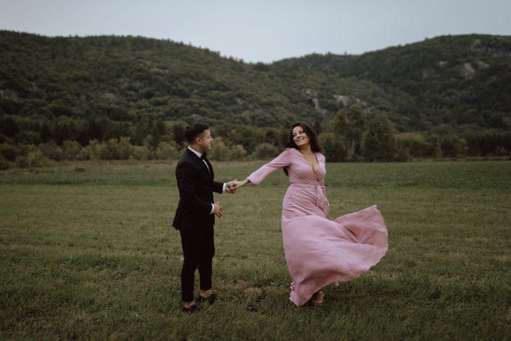 Luskville Falls engagement shoot